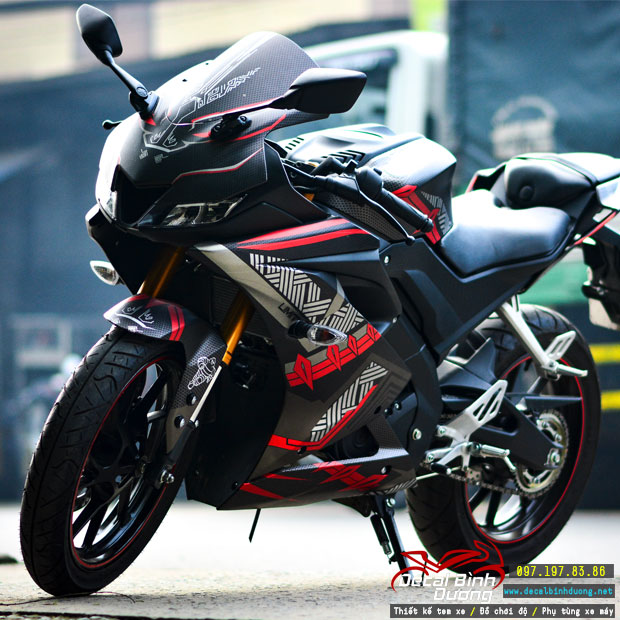 Tem Xe Yamaha R15 V3 Candy Đỏ Đen Cực Đẹp