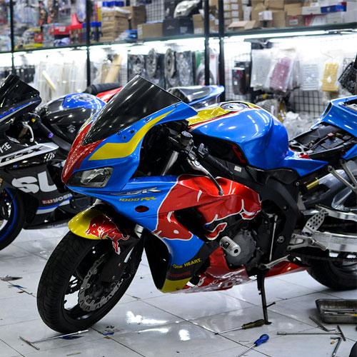 Tem Xe CBR Xanh GP Red Bull